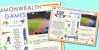 Commonwealth Games Information Poster Large - commonwealth, games