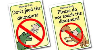 Dinosaur Park Role Play Signs - dinosaur park, display signs, dinosaur park role play, role play, dinosaur park display signs, dinosaur themed