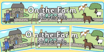 On the Farm Display Banner Polish Translation - polish, display