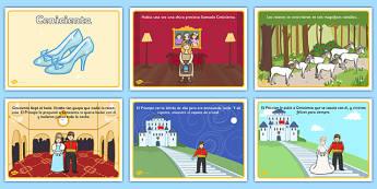 Tarjetas de secuenciar La Cenicienta - cuentos, tradicionales, hada