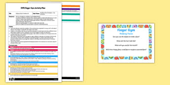 EYFS Making Faces Transient Art Finger Gym Plan and Prompt Card Pack