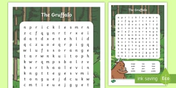 The Gruffalo Character Word Search - gruffalo, characters, game, words, vocabulary, key words, search, story,