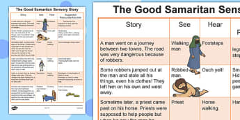 The Good Samaritan Sensory Story - good, samaritan, good samaritan, sensory, story, sensory story, senses, reading, listening, feeling, stories, good samartian