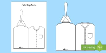 Vatertagskarte Hemd und Krawatte Anmalbilder  - Vatertagskarte Hemd und Krawatte, Anmalbilder, Malbild, Grußkarte, Kartenvorlage, Papa, Hemd, Krawa
