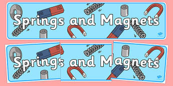 Springs And Magnets Display Banners - springs and magnets, display, banner, sign, poster, magnets, physics