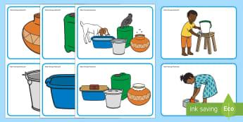 Water Storage Flashcards - water, storage, safe, hygiene, clean