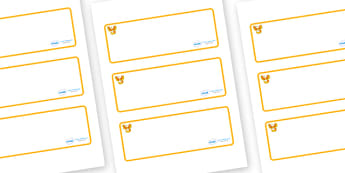 Phoenix Themed Editable Drawer-Peg-Name Labels (Blank) - Themed Classroom Label Templates, Resource Labels, Name Labels, Editable Labels, Drawer Labels, Coat Peg Labels, Peg Label, KS1 Labels, Foundation Labels, Foundation Stage Labels, Teaching Labe