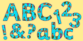 Pacific Islands Themed Display Letters and Numbers Pack - nz, new zealand, pacific islands, display letters, display numbers, pack