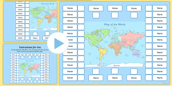 Where Our Families Are From World Map - where our families are from, family, from, world map