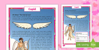 All About Cupid Fact File - Valentine's Day, love, hearts, holiday, valentine, valentines, cupid, ancient rome, god, god of lov