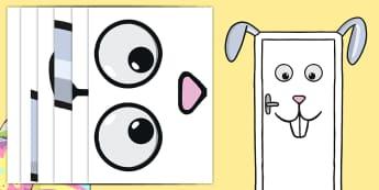 Easter Bunny Classroom Door Display Pack - easter bunny, rabbit, door, display, easter door display,