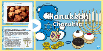 All About Hanukkah PowerPoint English/German - Chanukka, religion, Judaism, EAL, German, English-German,,German-translation