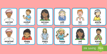 Feelings and Emotions Cards English/Mandarin Chinese - Feelings and Emotions Cards-feelings, emotions, cards, feelings cards, emotion cards, display cards,