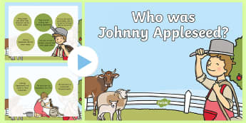 Who was Johnny Appleseed? PowerPoint - Johnny Appleseed, John Chapman, Apples, American Legends,