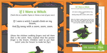 If I Were A Witch Rhyme - halloween, rhyme, eyfs, early years, witch, if I was a witch, were witch