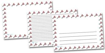 Scissors Landscape Page Borders- Landscape Page Borders - Page border, border, writing template, writing aid, writing frame, a4 border, template, templates, landscape