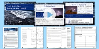 Storm on the Island Poem Analysis Differentiated Lesson Pack - Poetry, KS4 GCSE, AQA, Power and Conflict, Anthology, Literature