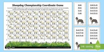 Sheepdog Championship Coordinates Game - Position, direction, coordinates, first coordinate, co-ordinates