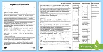 Year 6 Maths Assessment I Can Statements Checklist - 2014 Curriculum Year 6 Maths Assessment Checklist - numeracy, ks2, maths assessemnt, sats, numracy,