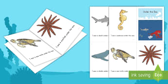 Under the Sea Emergent Reader - Ocean, Beach, Sea, Ocean Animals, sea animals,