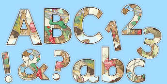 Beatrix Potter - The Tale of Benjamin Bunny Themed Display Lettering and Numbers Pack - beatrix potter, benjamin bunny