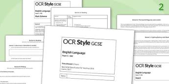 GCSE English Language Exam Paper 2 OCR - gcse, english, language, exam