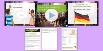 German Introductions Lesson Pack - German, Introductions, KS3,Year 7, Differentiated, dialogue