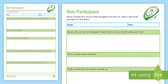 Rugby: Non-Participant Activity Sheet - Rugby, KS3, Non-participant, worksheet, peer assessment