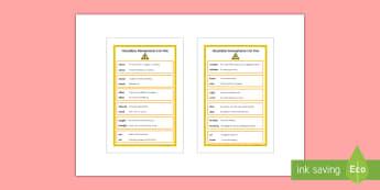 Hazardous Homophones List IKEA Tolsby Frame - Homophone, homophones, spelling, ks3, Language, SPAG