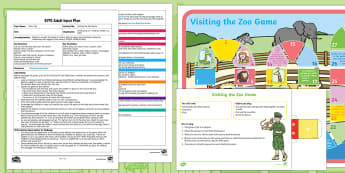 EYFS Visiting the Zoo Game Adult Input Plan and Resource Pack to Support Teaching on Dear Zoo  - Dear Zoo, Rod Campbell, animals, letter to the zoo, psed, personal social emotional development, gam