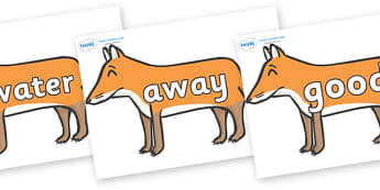 Next 200 Common Words on Foxes - Next 200 Common Words on  - DfES Letters and Sounds, Letters and Sounds, Letters and sounds words, Common words, 200 common words