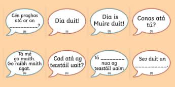 The Clothes Shop Conversation Prompts Gaeilge - Irish, Gaeilge, role play, clothes, clothes shop, eadai, éadaí, an siopa éadaí, resource pack, conversation, comhra, cómhra