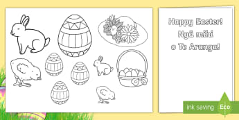 Easter Gift Card Template English/Te Reo Māori - New Zealand Easter, maori
