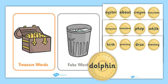 Buried Treasure Game (Phase 5) - Buried Treasure, Phase 5, activity, Phase five, blending for reading, nonsense words, DfES Letters and Sounds, Letters and sounds, Letter flashcards, year 2