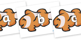 Phoneme Set on Clown Fish - Phoneme set, phonemes, phoneme, Letters and Sounds, DfES, display, Phase 1, Phase 2, Phase 3, Phase 5, Foundation, Literacy