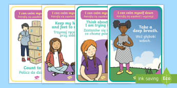 I Can Calm Myself Down A4 Display Posters English/Polish - I Can Calm Myself Down Display Posters - SEN, Calm, behaviour management, autism, autistic, calming