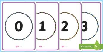 Number to 20 in Hoops Display Posters - maths, mathematics, number, number to 20, posters, pe themed, pd themed, hoops, pe numbers, sport.