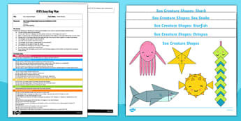 EYFS Sea Creature Shapes Busy Bag Plan and Resource Pack