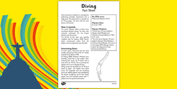 The Olympics Diving Fact Sheet - Rio Olympics, reading, facts, information, sports, dive