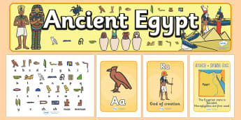 Ancient Egyptians Display Pack - ancient egyptians, display pack, display banner, display photos, resource, display lettering, resources, classroom display
