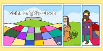 Saint Brigid's Cloak Story Sequencing - saint brigid, irish history, ireland, saint, patron, story cards