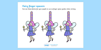 Writing Finger Spacers (Fairy) - Finger spacers, finger space, writing aid, fairy, sentence structure, finger, space, writing space, space aid, finger space aid