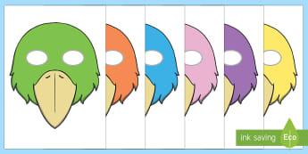 bird mask template - - bird, mask, template, birds,