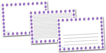 Purple Easter Egg Landscape Page Borders- Landscape Page Borders - Page border, border, writing template, writing aid, writing frame, a4 border, template, templates, landscape