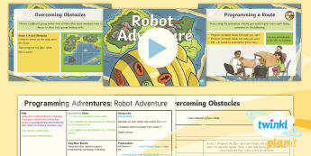 PlanIt D&T Upper KS2 - Programming Adventures Lesson Pack Robot Adventure - Lesson 6 - Adventure map, obstacle squares, programming, monitoring, evaluating, bee bot, Evaluate their ideas