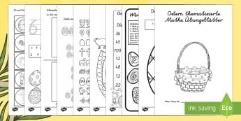 Ostern thematisierte Mathe Arbeitsblätter - Ostern thematisierte Mathe Arbeitsblätter, Ostern, Osterhase, Mathematik, Mathe, Ostern Matheaufgab