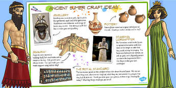 Ancient Sumer Craft Ideas - history, ks2 history, craft, design