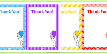 10th Birthday Party Thank You Notes - 10 birthday party, 10th birthday, birthday party, thank you notes