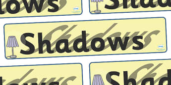 Shadows Display Banner - shadows, shadow, light, display, banner, sign, poster, dark, bright, light, sources of light, black, white, lights, sun, day, night, dim