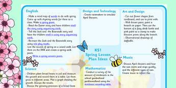 Spring Lesson Plan Ideas KS1 - spring, spring lesson plan, spring lesson ideas, spring lesson planning, spring MPT, MPT, ks1 spring lesson, KS1 lesson plan